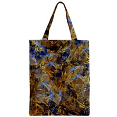 Antique Anciently Gold Blue Vintage Design Zipper Classic Tote Bag
