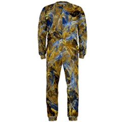 Antique Anciently Gold Blue Vintage Design OnePiece Jumpsuit (Men)