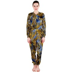 Antique Anciently Gold Blue Vintage Design OnePiece Jumpsuit (Ladies)