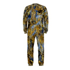 Antique Anciently Gold Blue Vintage Design Onepiece Jumpsuit (kids)