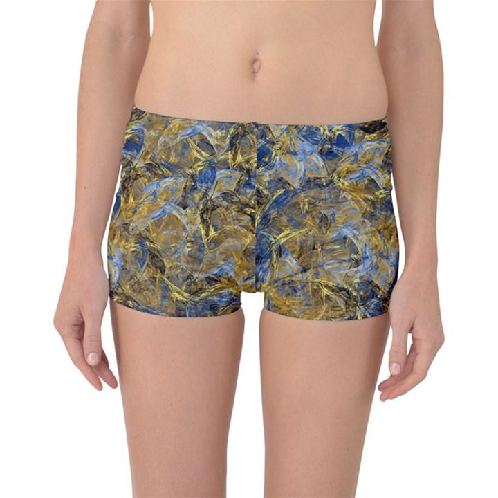 Antique Anciently Gold Blue Vintage Design Boyleg Bikini Bottoms