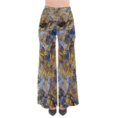 Antique Anciently Gold Blue Vintage Design Pants