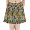 Antique Anciently Gold Blue Vintage Design Pleated Mini Skirt View1