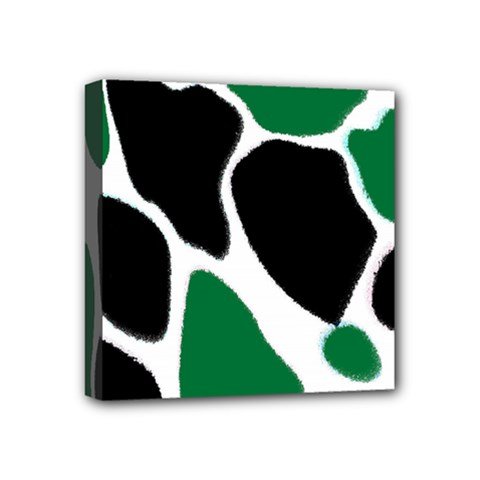 Green Black Digital Pattern Art Mini Canvas 4  x 4
