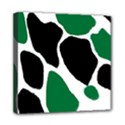 Green Black Digital Pattern Art Mini Canvas 8  x 8  View1