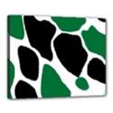 Green Black Digital Pattern Art Canvas 20  x 16  View1