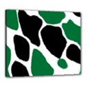 Green Black Digital Pattern Art Canvas 24  x 20  View1