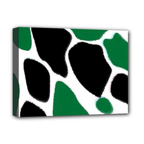 Green Black Digital Pattern Art Deluxe Canvas 16  x 12