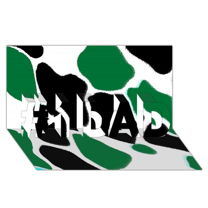 Green Black Digital Pattern Art #1 DAD 3D Greeting Card (8x4)