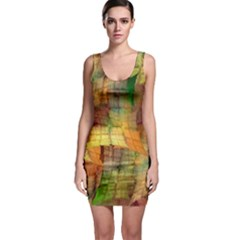 Indian Summer Funny Check Sleeveless Bodycon Dress