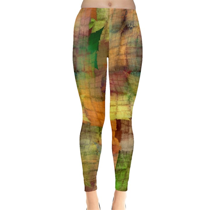 Indian Summer Funny Check Leggings