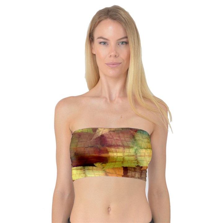 Indian Summer Funny Check Bandeau Top