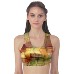 Indian Summer Funny Check Sports Bra