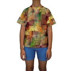 Indian Summer Funny Check Kids  Short Sleeve Swimwear