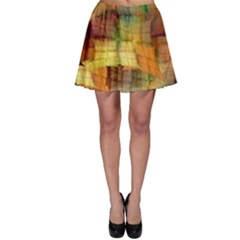 Indian Summer Funny Check Skater Skirt
