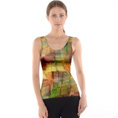 Indian Summer Funny Check Tank Top