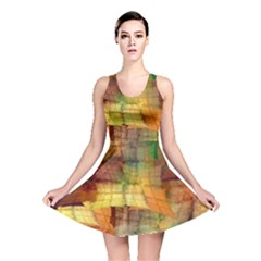Indian Summer Funny Check Reversible Skater Dress