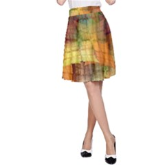 Indian Summer Funny Check A Line Skirt