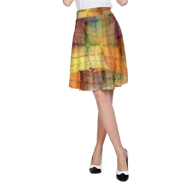 Indian Summer Funny Check A-Line Skirt