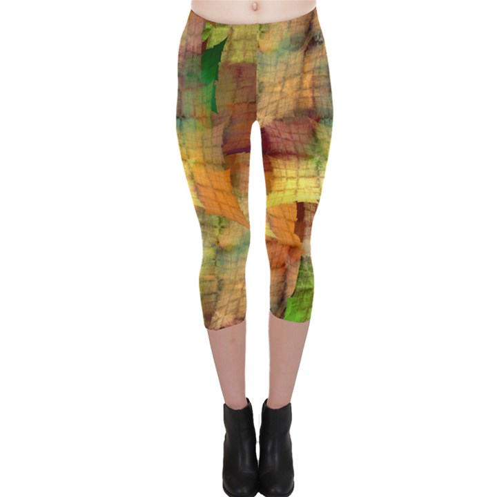 Indian Summer Funny Check Capri Leggings