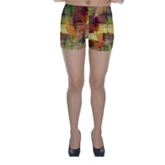 Indian Summer Funny Check Skinny Shorts