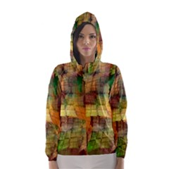 Indian Summer Funny Check Hooded Wind Breaker (women)