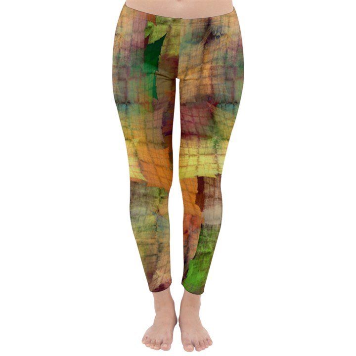 Indian Summer Funny Check Winter Leggings
