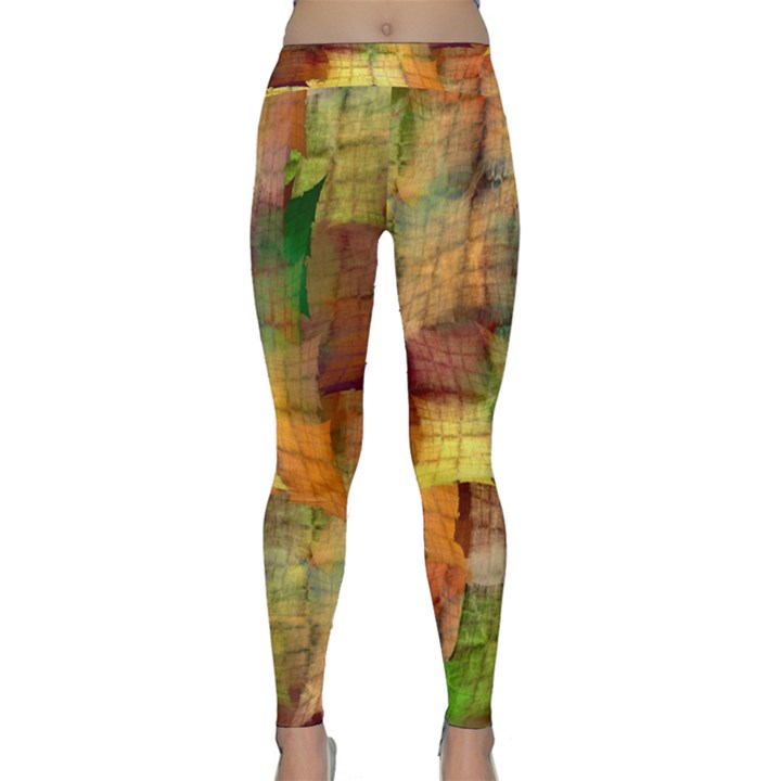 Indian Summer Funny Check Yoga Leggings