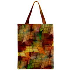Indian Summer Funny Check Zipper Classic Tote Bag