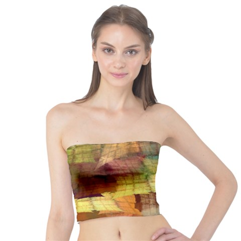 Indian Summer Funny Check Tube Top