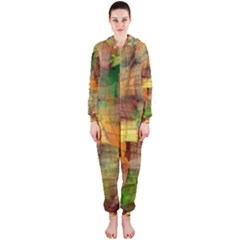 Indian Summer Funny Check Hooded Jumpsuit (Ladies)