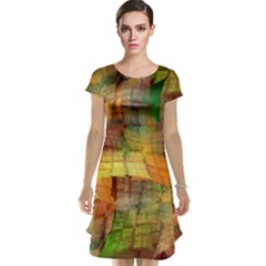 Indian Summer Funny Check Cap Sleeve Nightdress