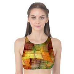 Indian Summer Funny Check Tank Bikini Top