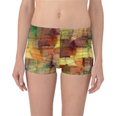 Indian Summer Funny Check Reversible Boyleg Bikini Bottoms