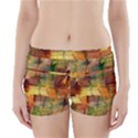 Indian Summer Funny Check Boyleg Bikini Wrap Bottoms View1