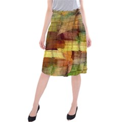 Indian Summer Funny Check Midi Beach Skirt