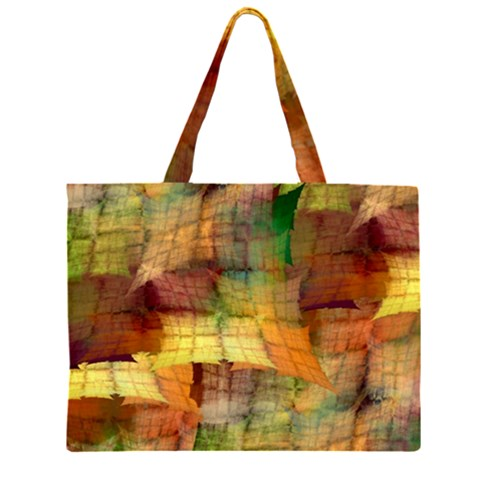 Indian Summer Funny Check Large Tote Bag