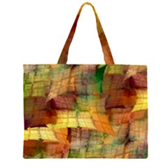 Indian Summer Funny Check Zipper Large Tote Bag