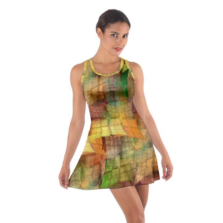 Indian Summer Funny Check Cotton Racerback Dress