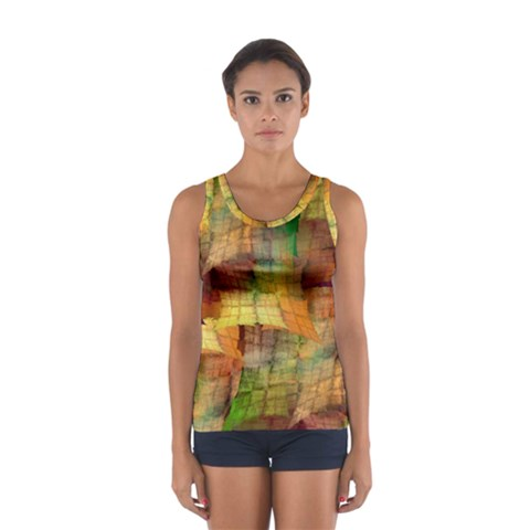 Indian Summer Funny Check Women s Sport Tank Top