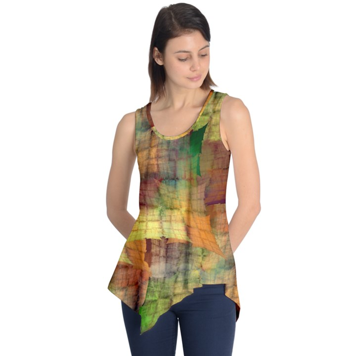 Indian Summer Funny Check Sleeveless Tunic