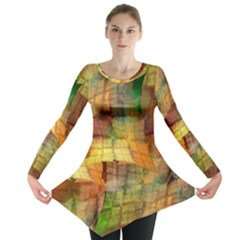 Indian Summer Funny Check Long Sleeve Tunic
