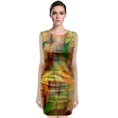 Indian Summer Funny Check Classic Sleeveless Midi Dress