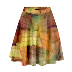 Indian Summer Funny Check High Waist Skirt