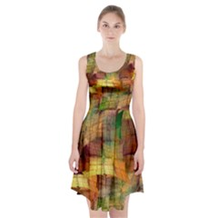 Indian Summer Funny Check Racerback Midi Dress
