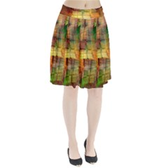 Indian Summer Funny Check Pleated Skirt