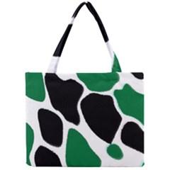 Green Black Digital Pattern Art Mini Tote Bag
