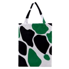 Green Black Digital Pattern Art Classic Tote Bag