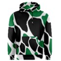 Green Black Digital Pattern Art Men s Pullover Hoodie View1