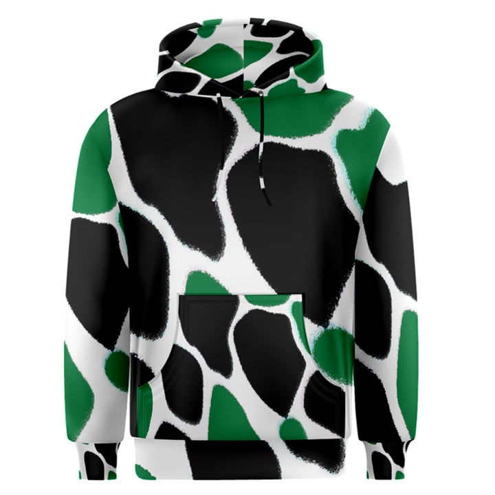 Green Black Digital Pattern Art Men s Pullover Hoodie